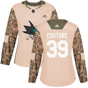 Logan Couture San Jose Sharks Adidas Women's Authentic Veterans Day Practice Jersey (Camo)