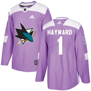 Brian Hayward San Jose Sharks Adidas Authentic Hockey Fights Cancer Jersey (Purple)