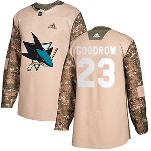 Barclay Goodrow San Jose Sharks Adidas Authentic Veterans Day Practice Jersey (Camo)