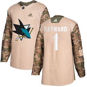 Brian Hayward San Jose Sharks Adidas Youth Authentic Veterans Day Practice Jersey (Camo)