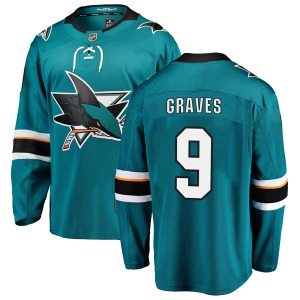 Adam Graves San Jose Sharks Fanatics Branded Youth Breakaway Home Jersey (Teal)